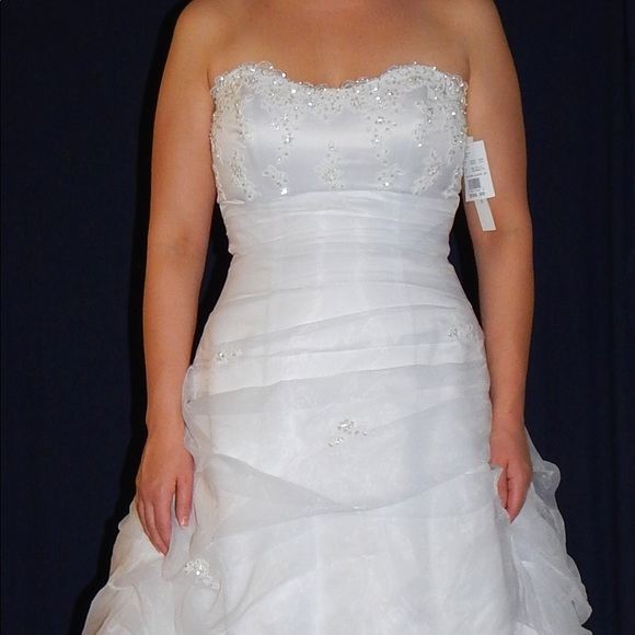 1c63365fd9a David s Bridal Organza Wedding Gown Dress
